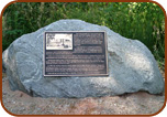 Bronze Plaque Boulder