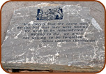 Engraved Boulder Slab