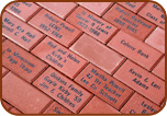 Engraved Brick 4x8 Section