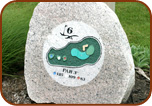 Engraved Rock Golf Sign Markers