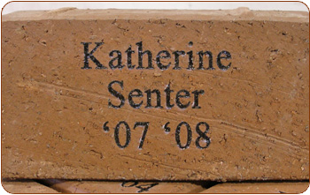 laserblasted laser engraved brick