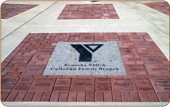 YMCA Memorial Brick & Engraved Granite Logo Paver