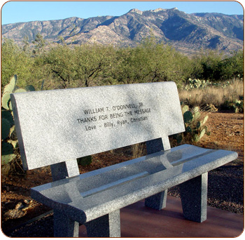 Engraved Granite Donor Bench