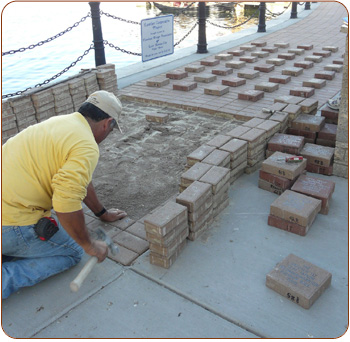 Engraved Brick Installation of Gift Bricks®