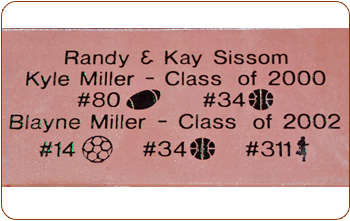 engraved 8x16 sports symbol paver