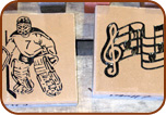 Tan Engraved 8x8 Artwork Bricks